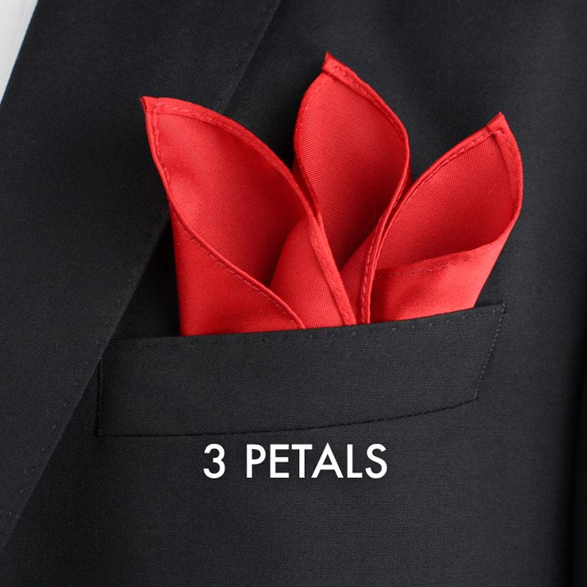 3 Petals pocket square fold