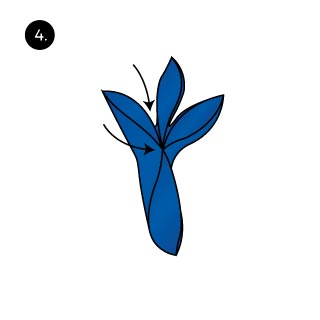 three petals pocket square fold
