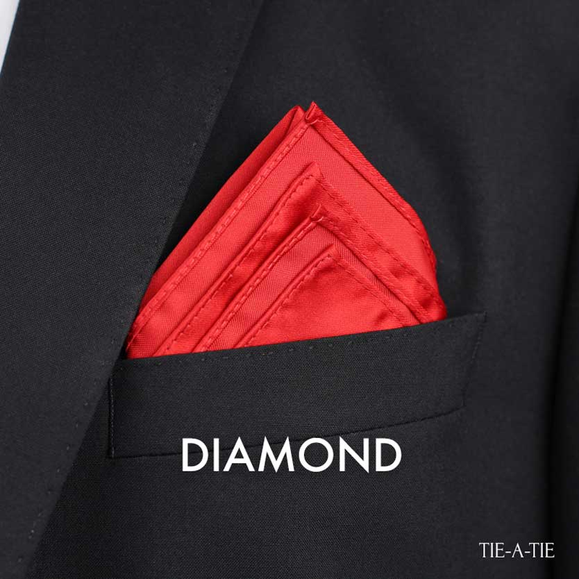 The Diamond Pocket Square Fold Instructions