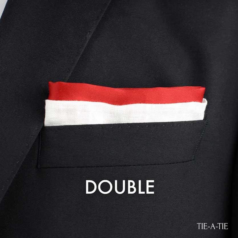 double pocket square fold