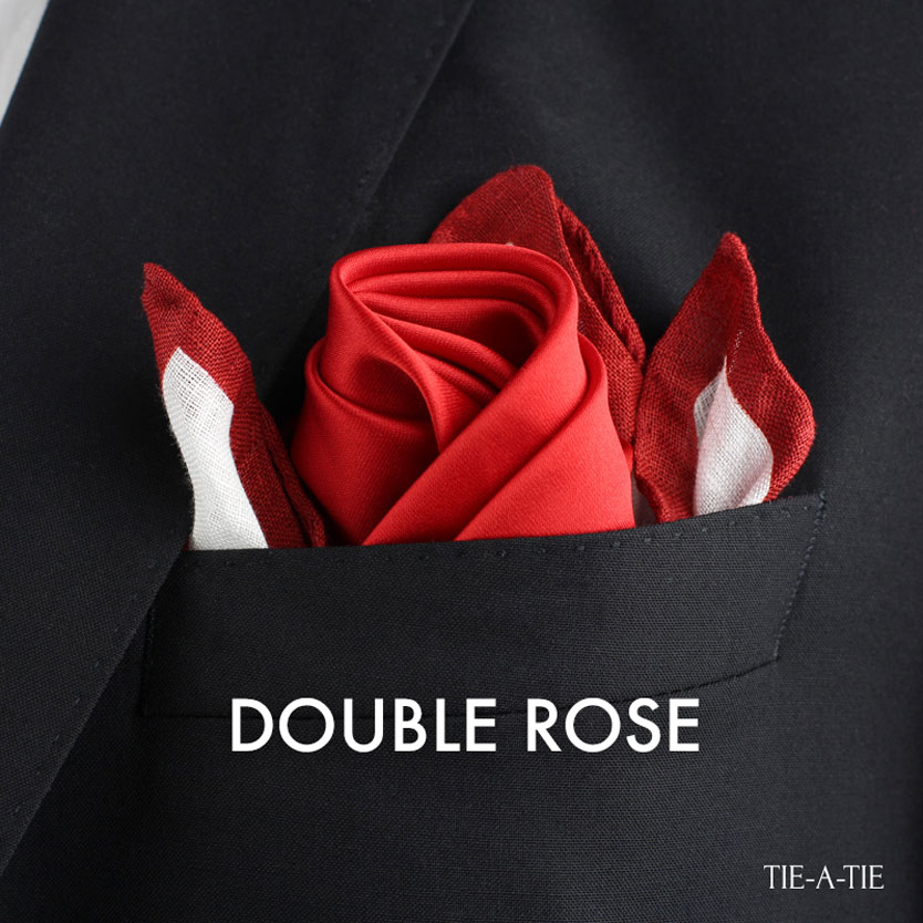 double rose pocket square fold