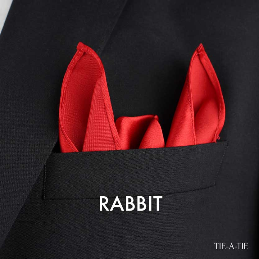 rabbit ears pocket square fold