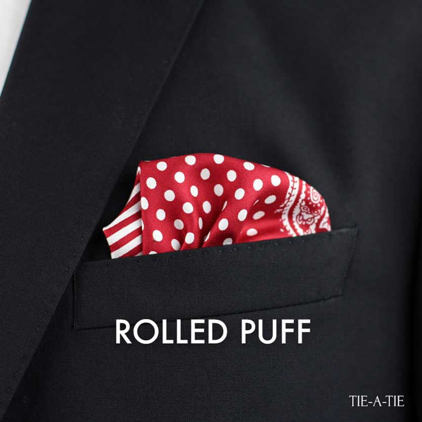 Rolled Puff Pocket Square Fold