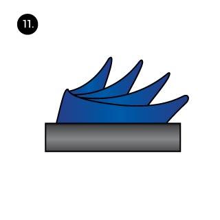 sailboat pocket square fold