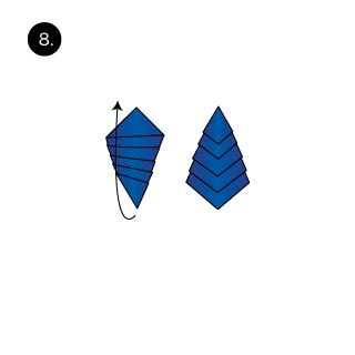 xmas tree pocket square folding tips
