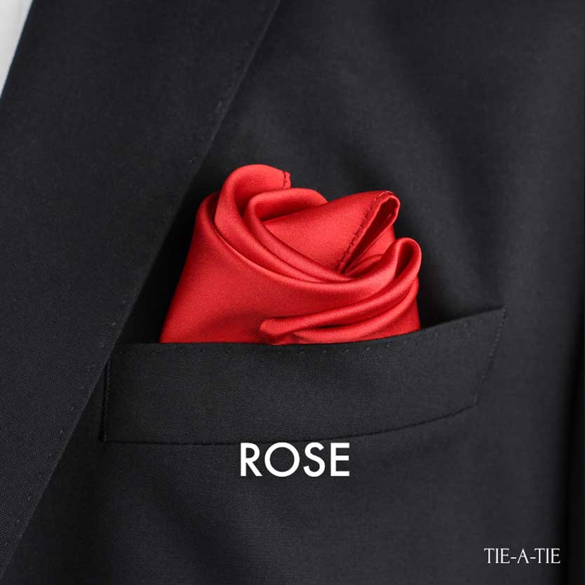 rose pocket square fold