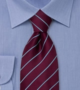 Dark Purple Striped Mens Tie