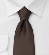 Solid Mens Tie in Chocolate Brown