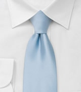 Solid Powder-Blue Mens Tie