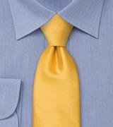 Solid Golden Yellow Mens Tie