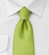 Solid Apple Green Mens Tie