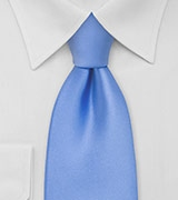 Solid Mens Tie in Bright Sky-Blue