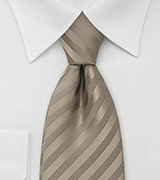 Beige Necktie With Golden Shimmer