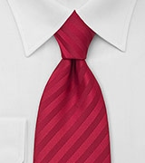 Classy Mens Tie in Bright Persian-Red