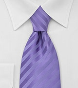 Subtle Striped Tie in Lavender-Purple