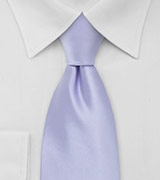 Solid Colored Tie in Light Lavender