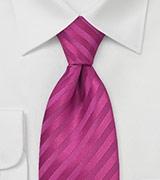 Striped Tie in Deep Magenta