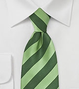 Pistaccio and Kelly Striped Tie