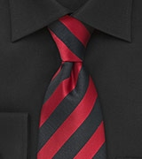 Deep Red and Black Tie