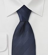 Navy Blue Striped Tie