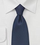 Dark Navy Tie with Embroidered Diamonds