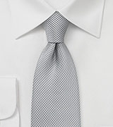 Formal Silver Tie with Micro Checks