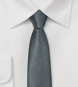 One of a Kind Leather Looking Tie in Stone Gray