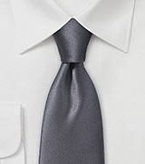Sharp Tie in Solid Smokey Pewter