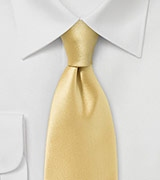 Slightly Narrower Tie in Rich Maize Hue