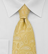 Modern Paisley Tie in Yellow