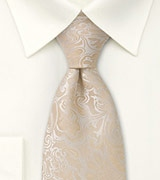 Champagne Wedding Neck Tie