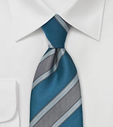 Mens Modern Tie in Mediterranean Blues