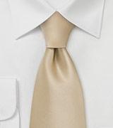 Solid Champagne-Cream Tie