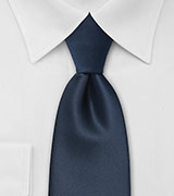 Solid Dark Navy Mens Tie