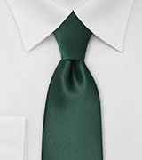 Solid Dark Hunter Green Tie