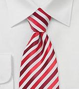 Modern Striped Tie in Red White