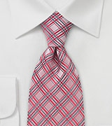Mens Tie in Light Coral Red