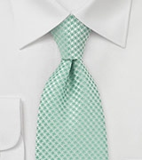 Handwoven Clover Green Tie