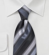 Sleek Tie in Silvers