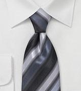 Sleek Tie in Silvers