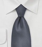 Dark Charcoal Grey Tie