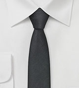 Textured Skinny Tie in Black