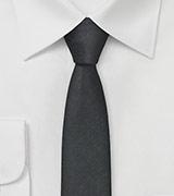 Textured Skinny Tie in Black