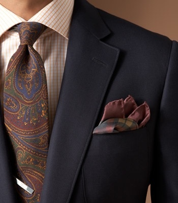 paisley-tie-checkered-shirt