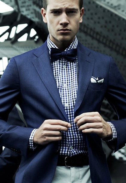 gingham-shirt-bow-tie