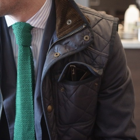 emerald-color-knitted-silk-tie