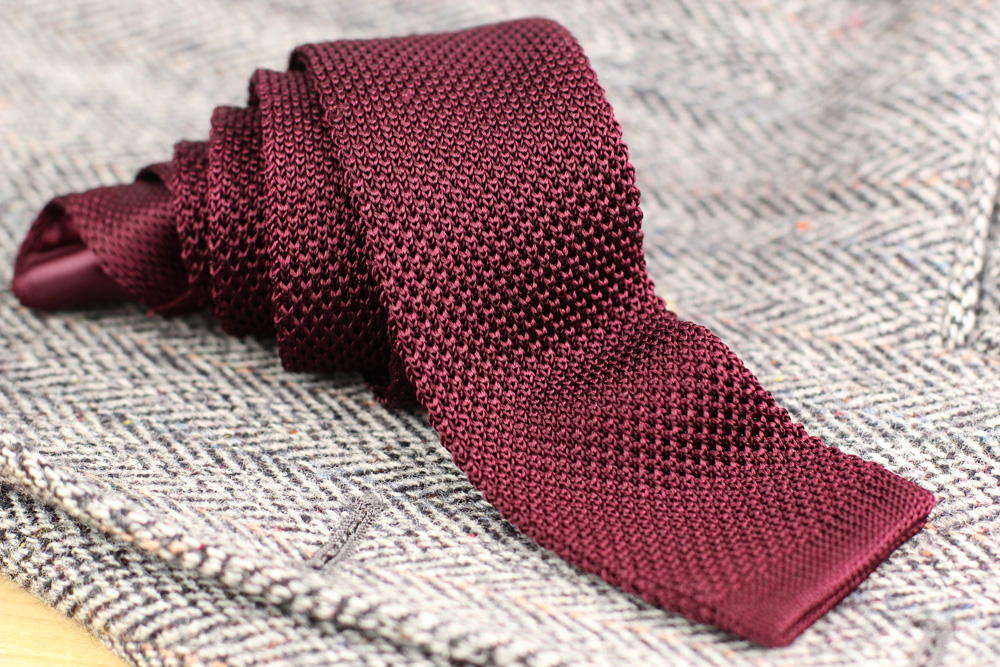 How to Knit a Tie - Vintage Mens Tie Pattern - Striped Tie Knitting Pattern