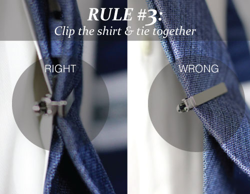 How to wear a tie bar 3 rules for tie bars tie a tie how to attach tie bar to shirt ccuart Image collections