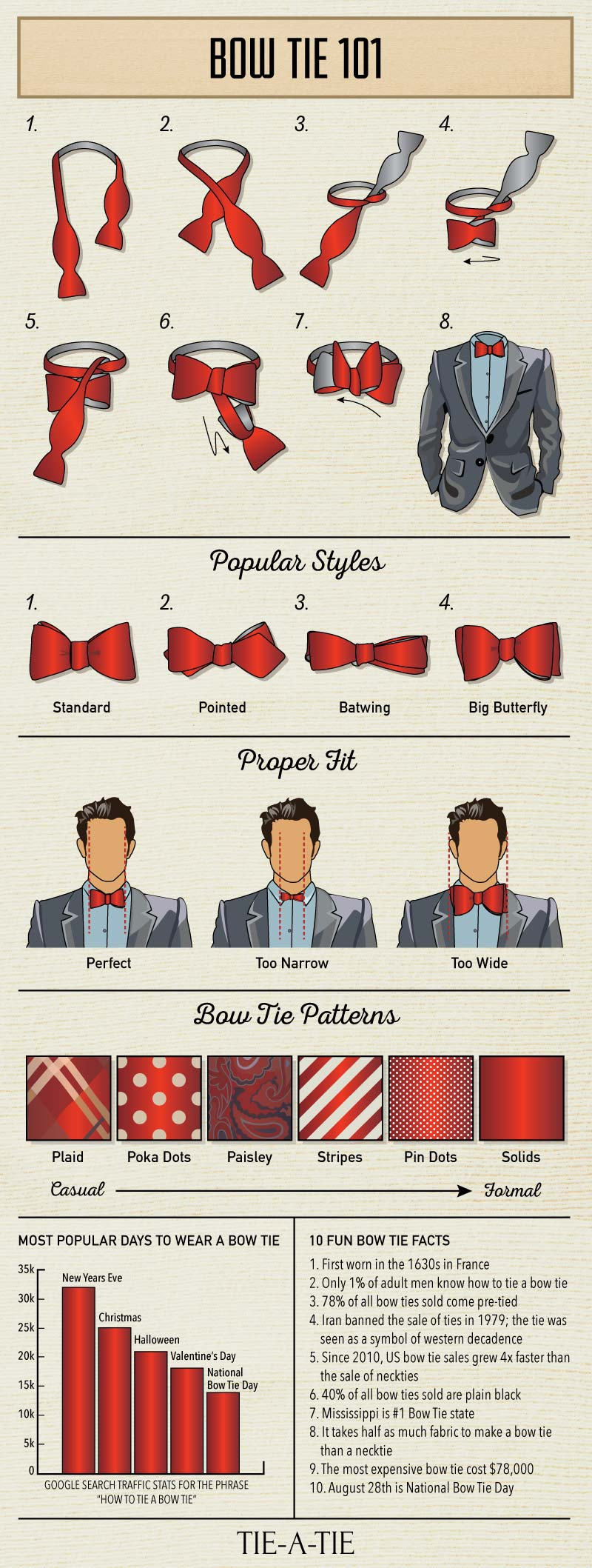 tips on wearing bow ties