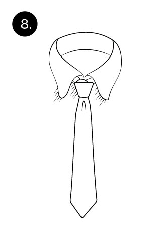 tie a necktie with half windsor knot